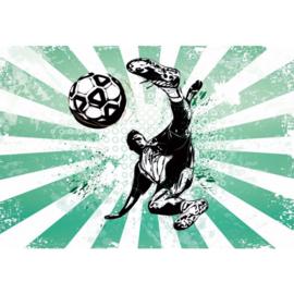 Fotobehang Football Stars: Strike!