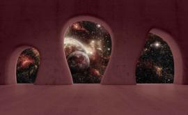 Fotobehang Space Planeet Uitzicht