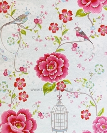 Eijffinger Pip Studio behang 313012 Birds in Paradise Wit