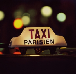 Fotobehang City Love CL23A Taxi Parisien