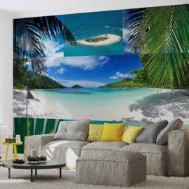 Fotobehang Collage Tropisch Strand