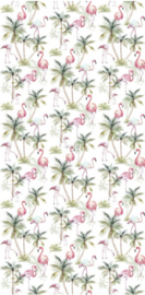 Esta photowall XL2 for kids 158844 Flamingos