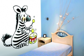 Sweet Collection by Monica Maas - Zebra with Drum art. 5066