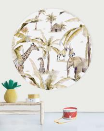 Creative Label behangcirkel African Safari Sunset 145cm