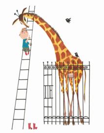 Kek Wonderwalls behangposter Giant giraffe PA-024