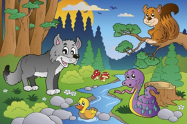 Fotobehang Dieren in het bos