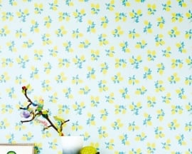 Behang Eijffinger Rice 359164 Juicy Lemon blue