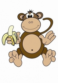 Little Ones fotobehang 414046 My Monkey
