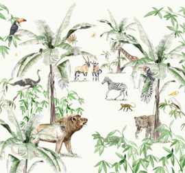 Creative Lab Amsterdam Just Another Day In The Jungle 300cm x 280cm hoog