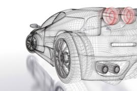 Fotobehang Auto model licht