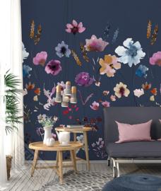 Colorful Florals&Retro fotobehang designed by INGK7285
