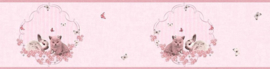 As Creation Little Stars 35567-1 behangrand Poes Konijn Vlinder