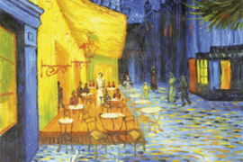 Fotobehang Café terras (van Gogh)