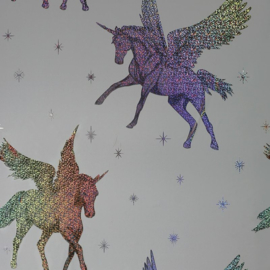 Unicorn Holographic behang