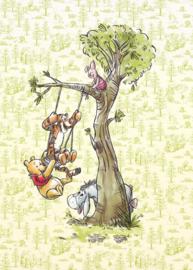 Komar fotobehang DX4-017 Winnie Pooh In The Wood