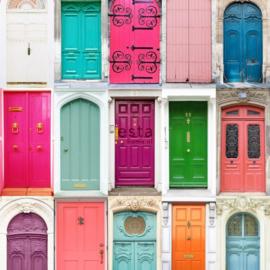 Esta Cabana 158607 XXL behang gekleurde deuren