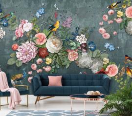 Floral Utopia INK7579 fotobehang afm. 400cm breed x 280cm hoog