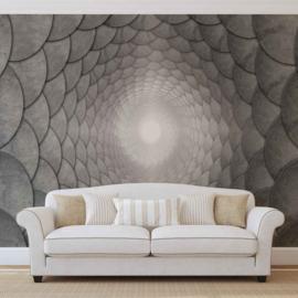 Fotobehang Abstract grey spiral