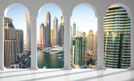 Fotobehang Doorkijk Dubai City Marina