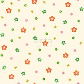 Esta Kids 114635 Jimbo bloemetjes lime groen en oranje