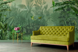 AS Creation DD120244 Green Jungle Parrot afm. 400cm x 280cm hoog