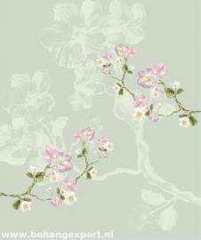 Behang Eijffinger Un Bisou 365116 Fleurs de Printemps sauge