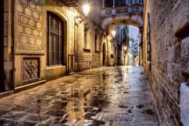 Fotobehang Oude straat