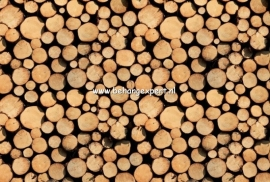 Fotobehang AP Digital 470113 Stack of Wood