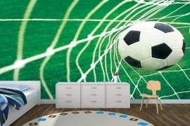 fotobehang voetbal goal