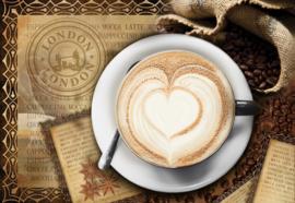 Fotobehang Coffee Cafe London