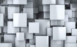 Fotobehang Abstract Rechthoekig Grijs Wit