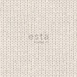 Behang Esta Denim & Co 137720 Knitting beige