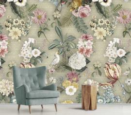Floral Utopia INK7583 fotobehang afm. 200cm breed x 280cm hoog
