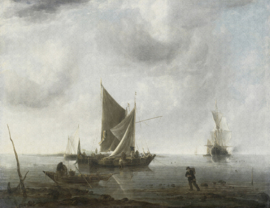 Dutch Painted Memories 8002 Anchored ships Jan van de Capelle