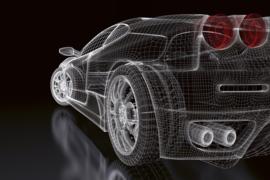 Fotobehang Auto model donker