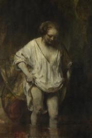 Fotobehang Badende vrouw - Rembrandt van Rijn