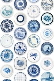 Studio Ditte Porselein behang (blauw)
