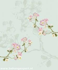 Behang Eijffinger Un Bisou 365117 Fleurs de Printemps parme