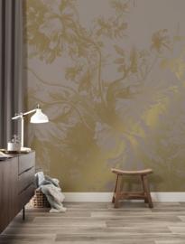Kek Gold MW-016 Engraved Flowers 200cm breed x 280cm hoog