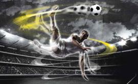 Fotobehang Voetballer Volley