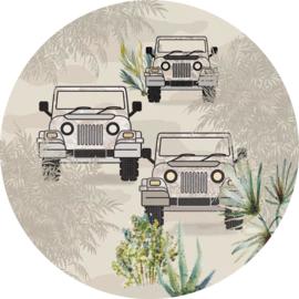 Sofie & Junar bush drive sahara stickercirkel zelfklevend