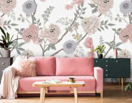 Floral Utopia INK7563 fotobehang afm. 200cm breed x 280cm hoog