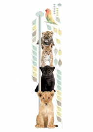 Kek wall stickers kids Safari Friends groeimeter MS-047