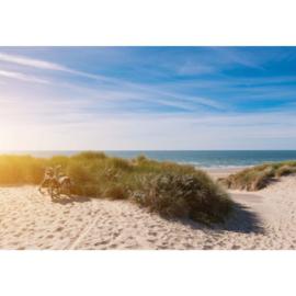 Fotobehang Zonsondergang op het Strand