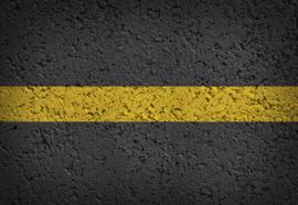 Fotobehang Yellow Road Markings Grunge