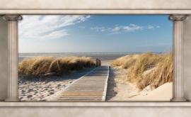 Fotobehang Uitzicht op het Strand
