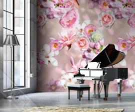 Colorful Florals&Retro fotobehang designed by INGK7318