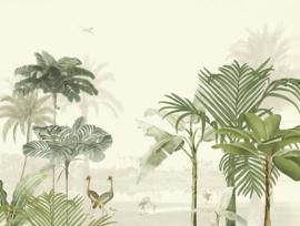 Eijffinger Oasis 317400 Wallpower Lush Lagoon Large warm white 371cm x 280cm hoog