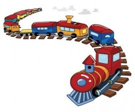 Dutch Digiwalls Fotobehang - Olly art. 13070 Fun Train
