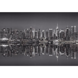 Fotobehang New York Reflections in Black & White